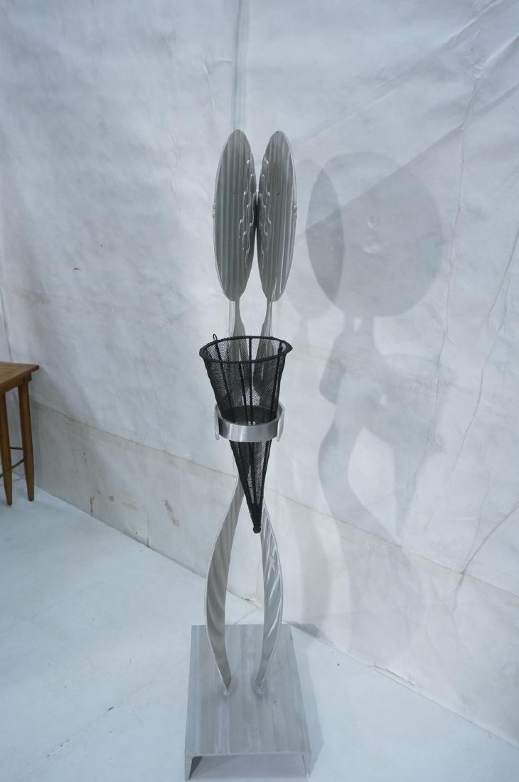 Signed FRED GARBOTZ Aluminum Figural Floor Sculpt - 3