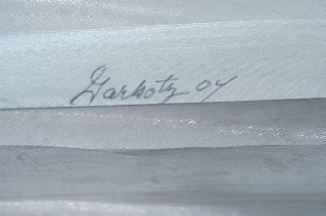 Signed FRED GARBOTZ Aluminum Figural Floor Sculpt - 5