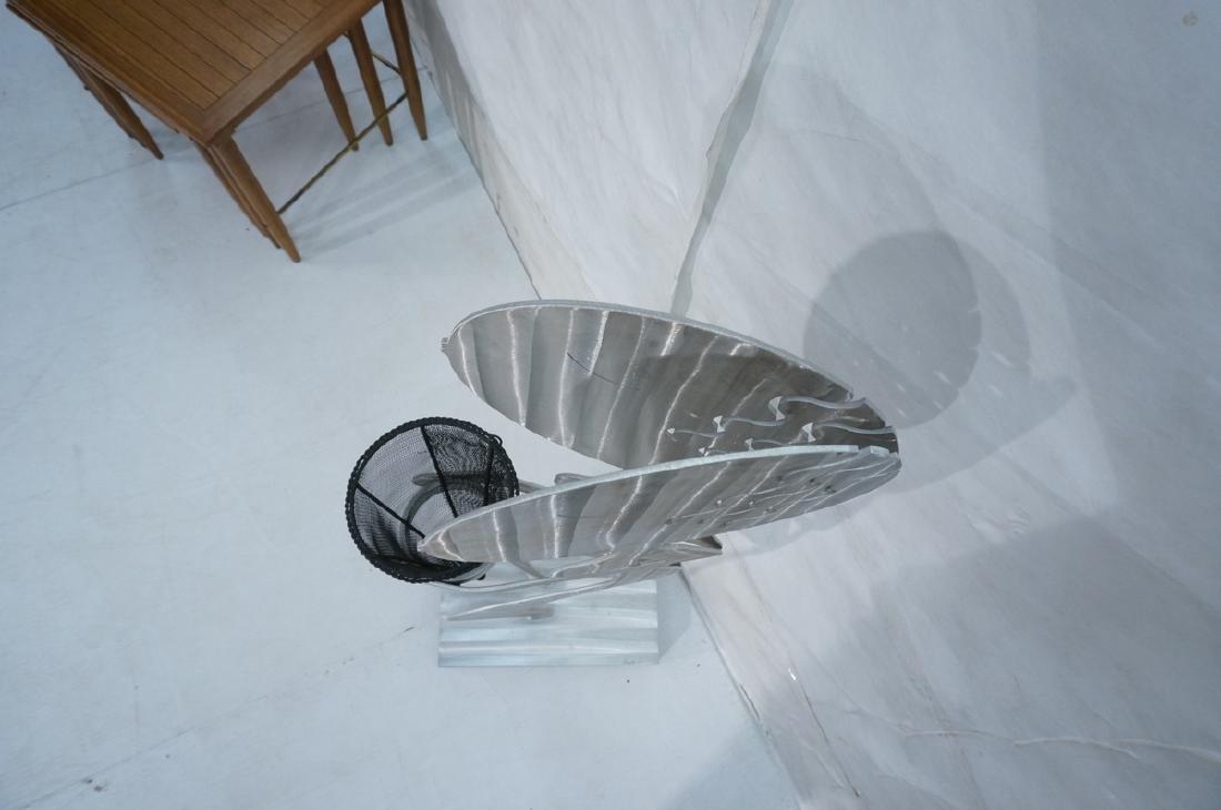 Signed FRED GARBOTZ Aluminum Figural Floor Sculpt - 6