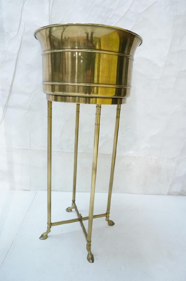 Regency Style Brass Planter Plant Stand Hoof Feet - 2