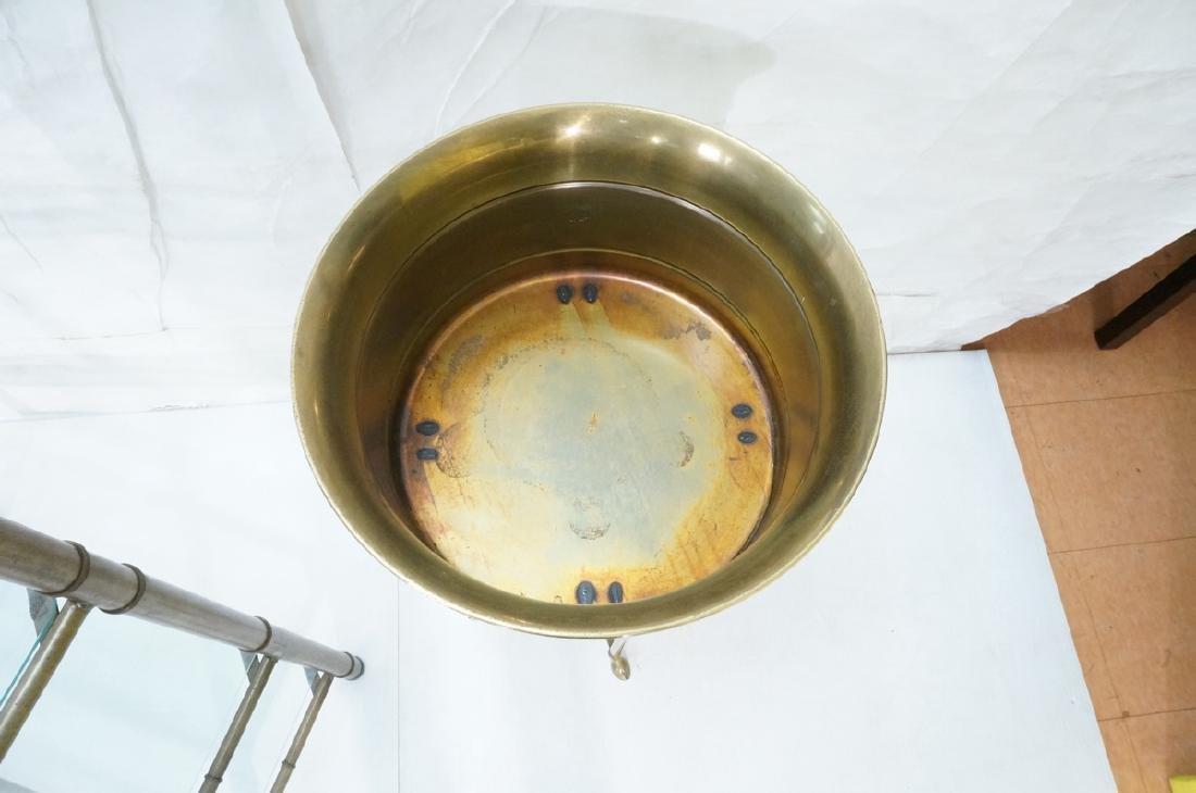 Regency Style Brass Planter Plant Stand Hoof Feet - 3