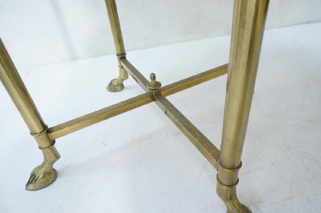 Regency Style Brass Planter Plant Stand Hoof Feet - 5