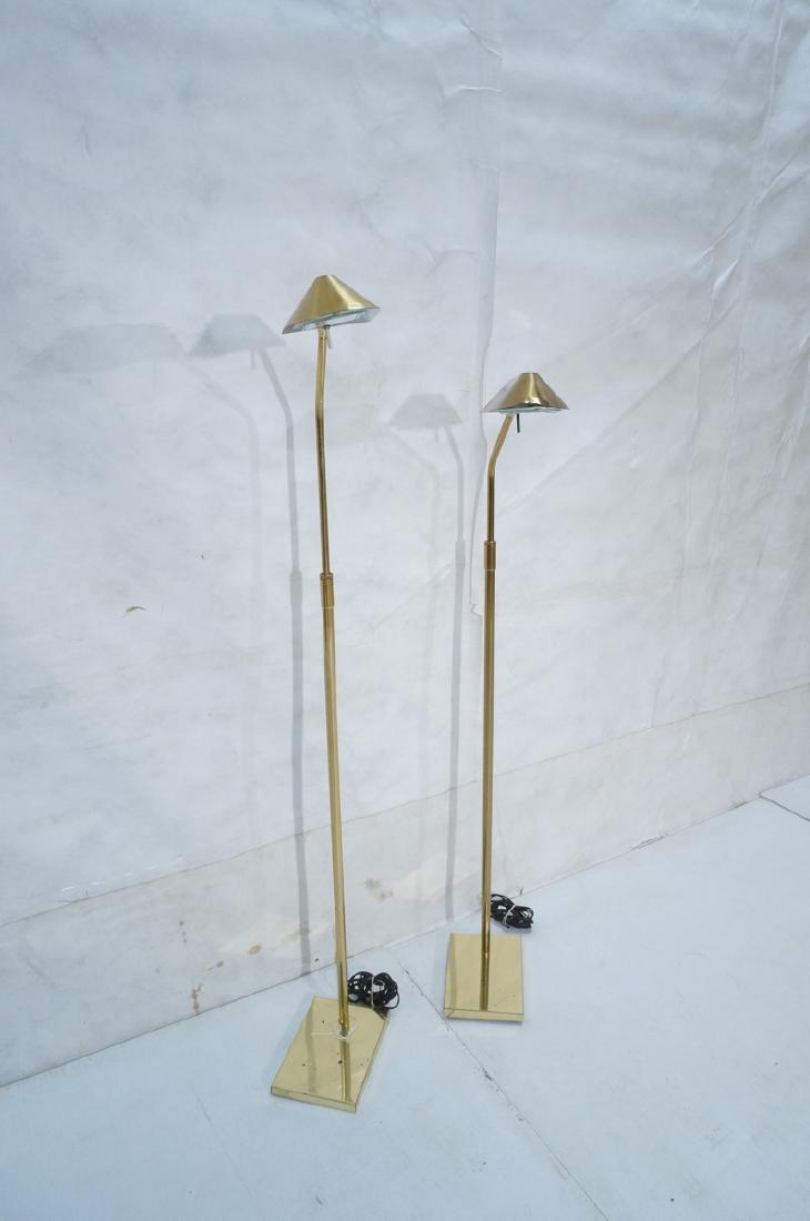 Pr KOVACS Modern Brass Adjustable Floor Lamps. Br - 2