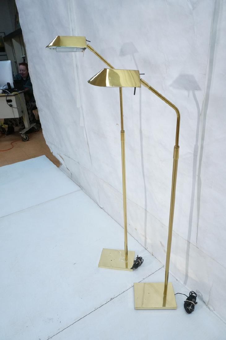 Pr KOVACS Modern Brass Adjustable Floor Lamps. Br - 3