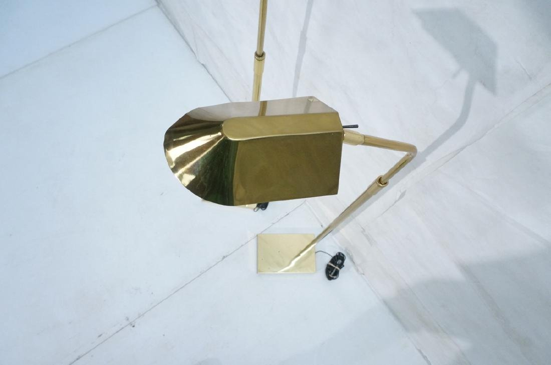 Pr KOVACS Modern Brass Adjustable Floor Lamps. Br - 4