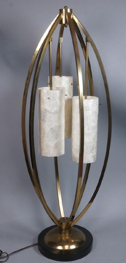 Mid Century Modern Brass Tall Table Lamp. 3 hangi