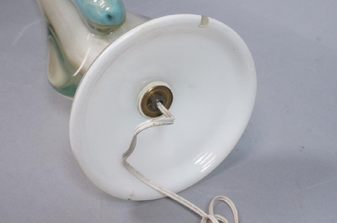 Tall Murano Art Glass Table Lamp. Modern Italian - 8
