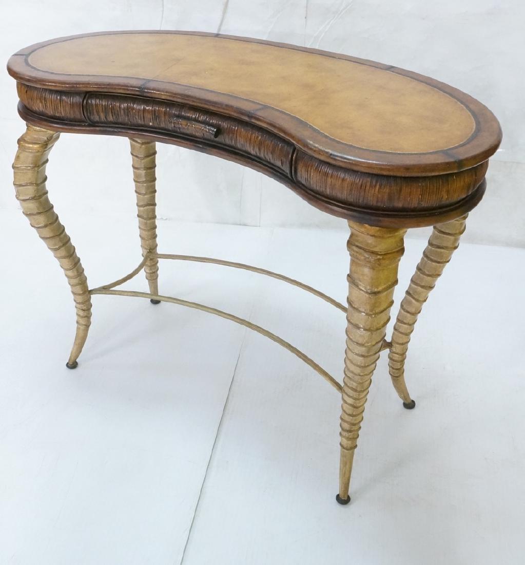 Decorator MAITLAND SMITH Style Desk. Faux antelop