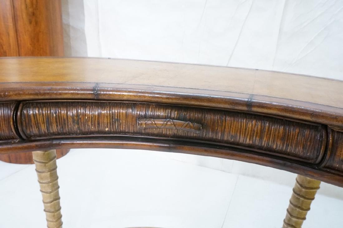 Decorator MAITLAND SMITH Style Desk. Faux antelop - 9