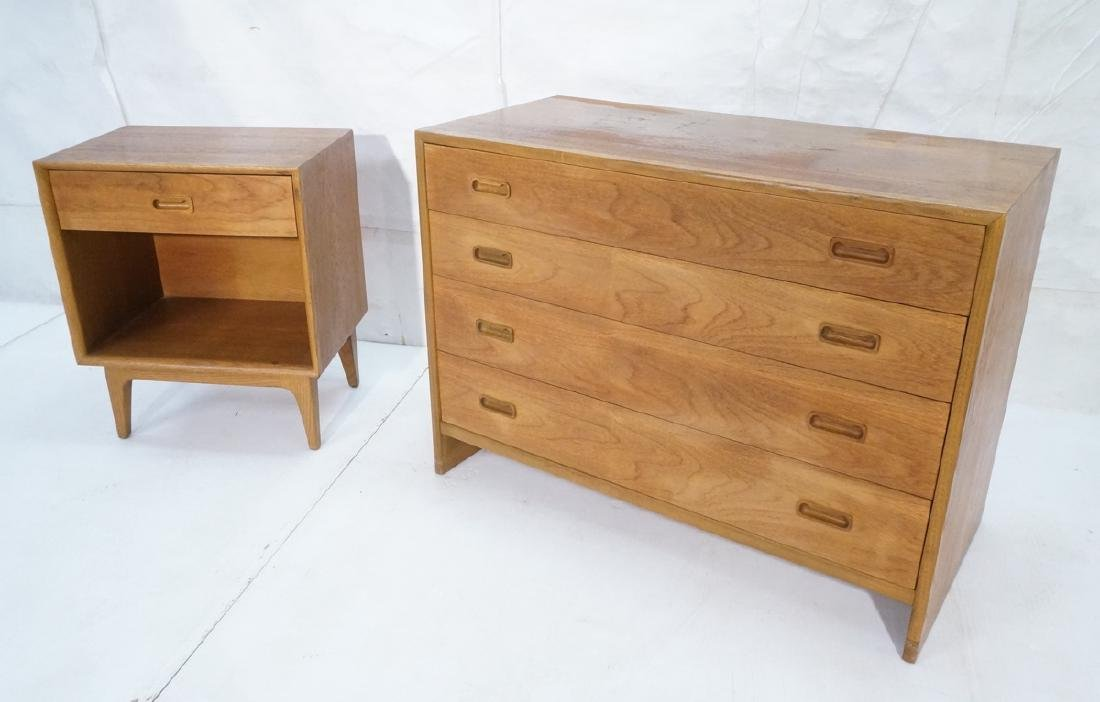2pc Danish Modern Teak Bedroom Set. Bachelors che