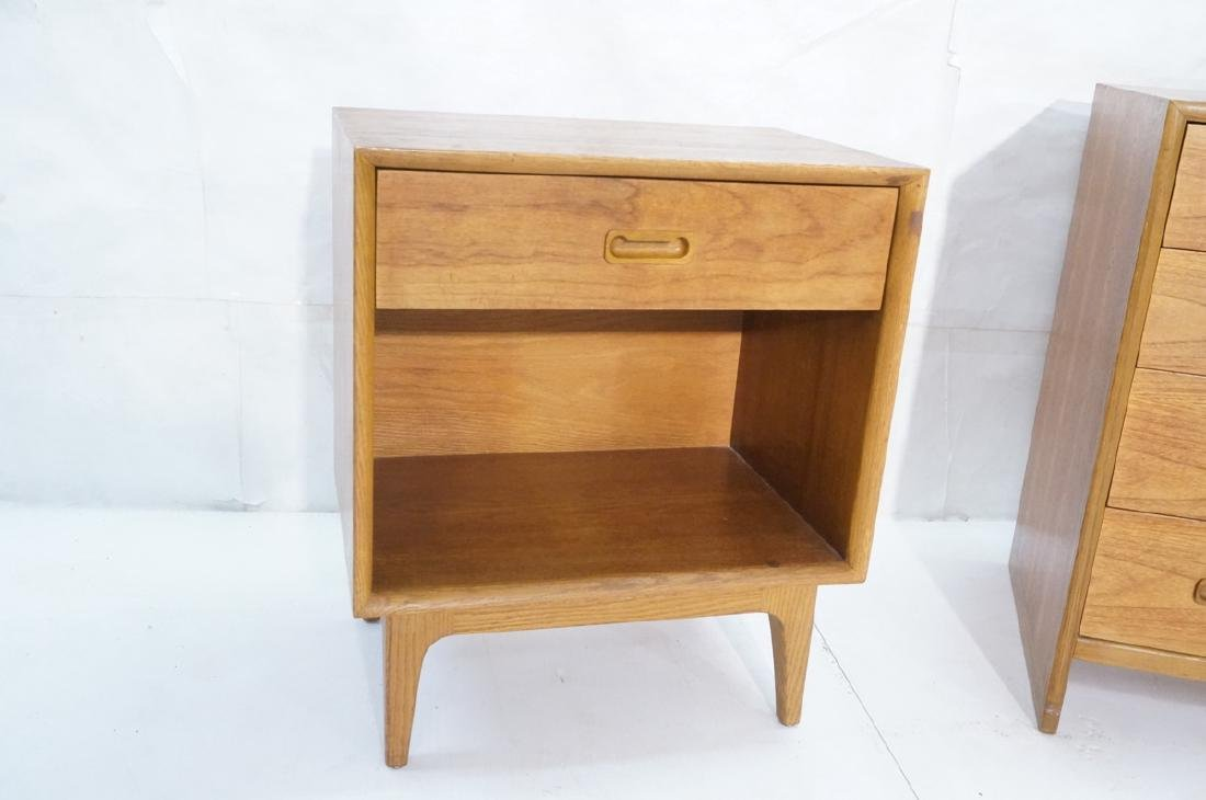 2pc Danish Modern Teak Bedroom Set. Bachelors che - 6