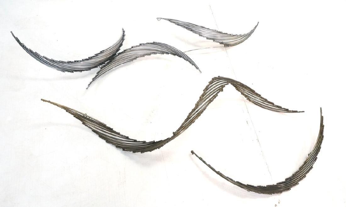 4pc C. JERE Brutalist Metal Wall Sculptures. 2 ar