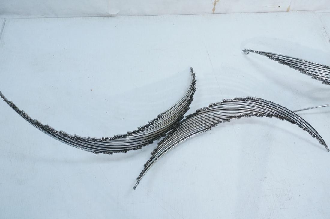 4pc C. JERE Brutalist Metal Wall Sculptures. 2 ar - 2