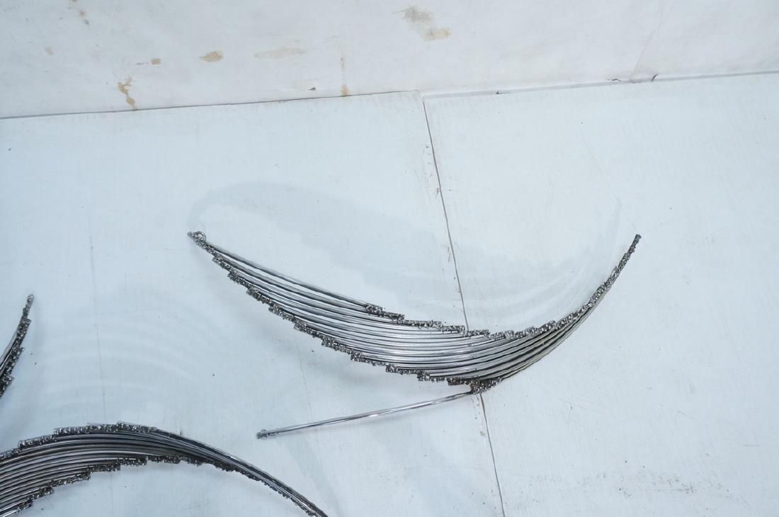 4pc C. JERE Brutalist Metal Wall Sculptures. 2 ar - 3