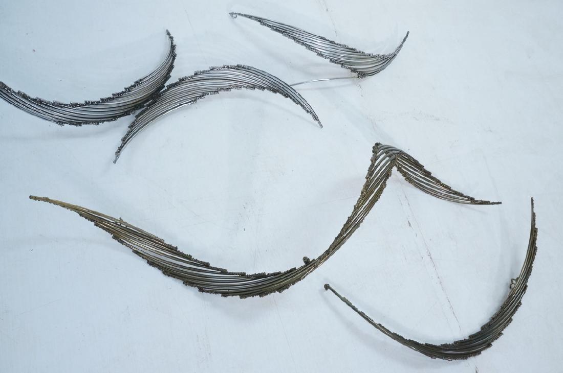4pc C. JERE Brutalist Metal Wall Sculptures. 2 ar - 4