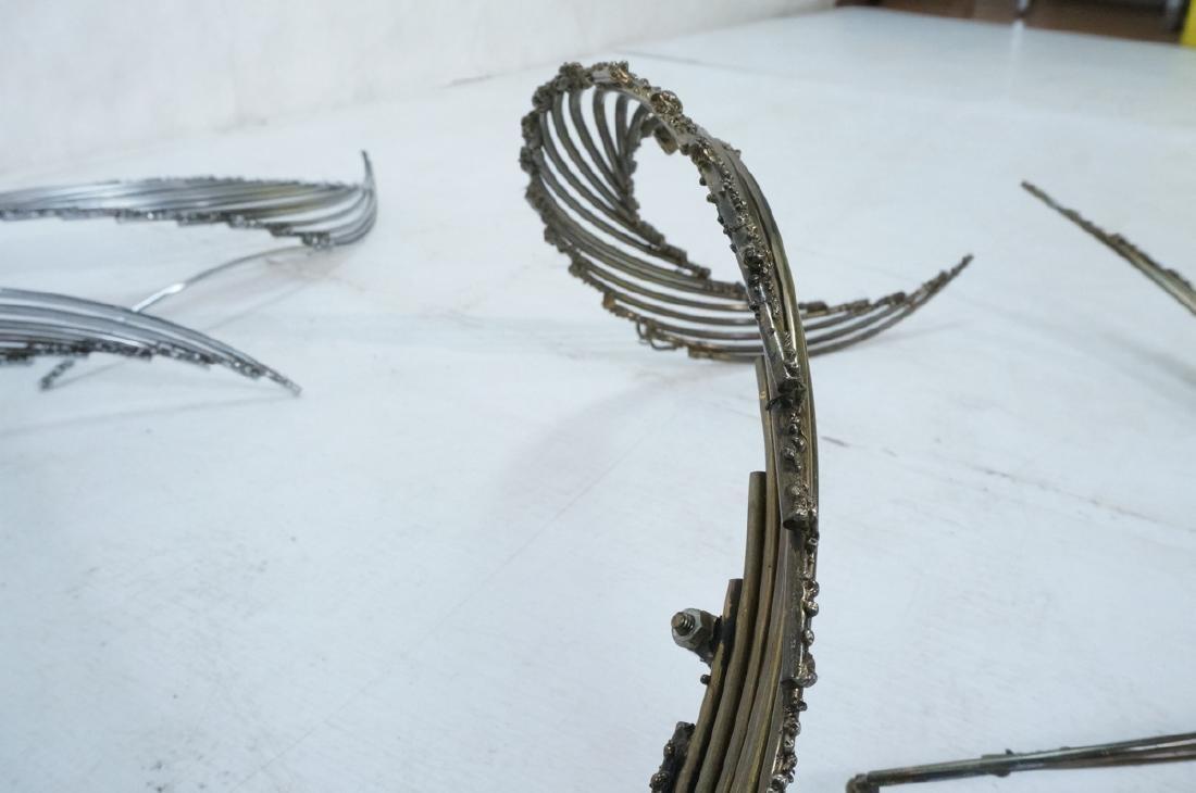4pc C. JERE Brutalist Metal Wall Sculptures. 2 ar - 9