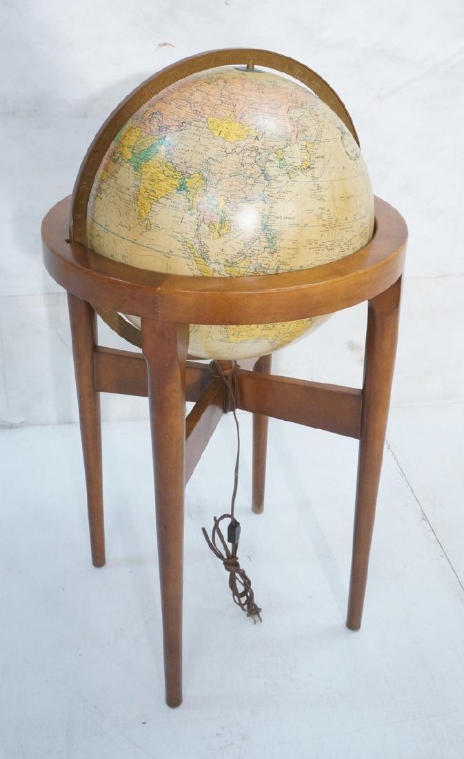 REPLOGLE Globe in Modern Stand. Globe swivels and