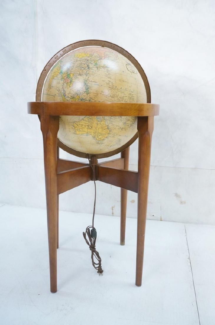 REPLOGLE Globe in Modern Stand. Globe swivels and - 2