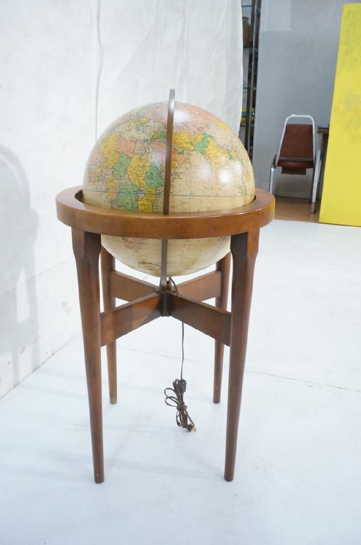 REPLOGLE Globe in Modern Stand. Globe swivels and - 3
