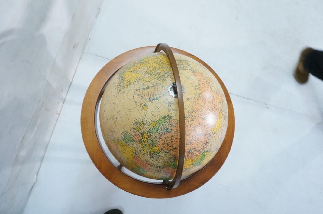 REPLOGLE Globe in Modern Stand. Globe swivels and - 4