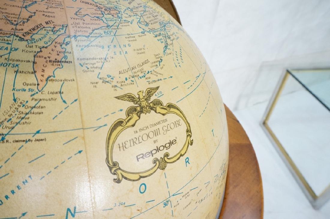 REPLOGLE Globe in Modern Stand. Globe swivels and - 5