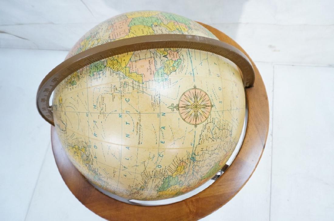 REPLOGLE Globe in Modern Stand. Globe swivels and - 6