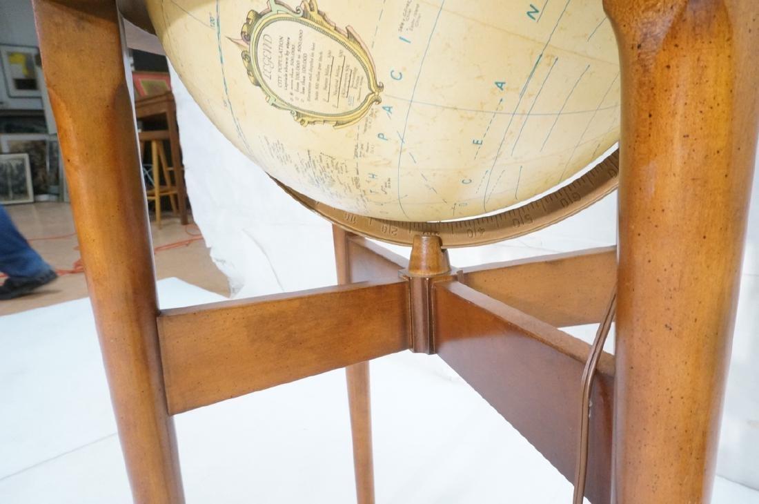REPLOGLE Globe in Modern Stand. Globe swivels and - 7
