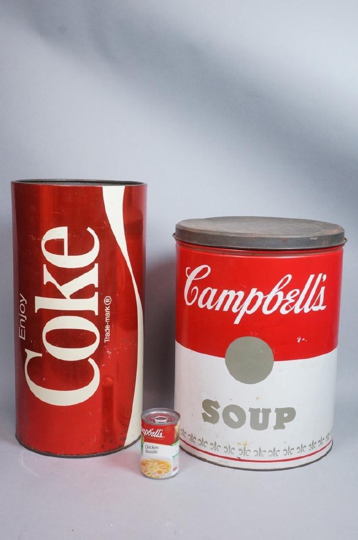 2 70s Modern Metal Advertising Tins. Warhol Style - 2