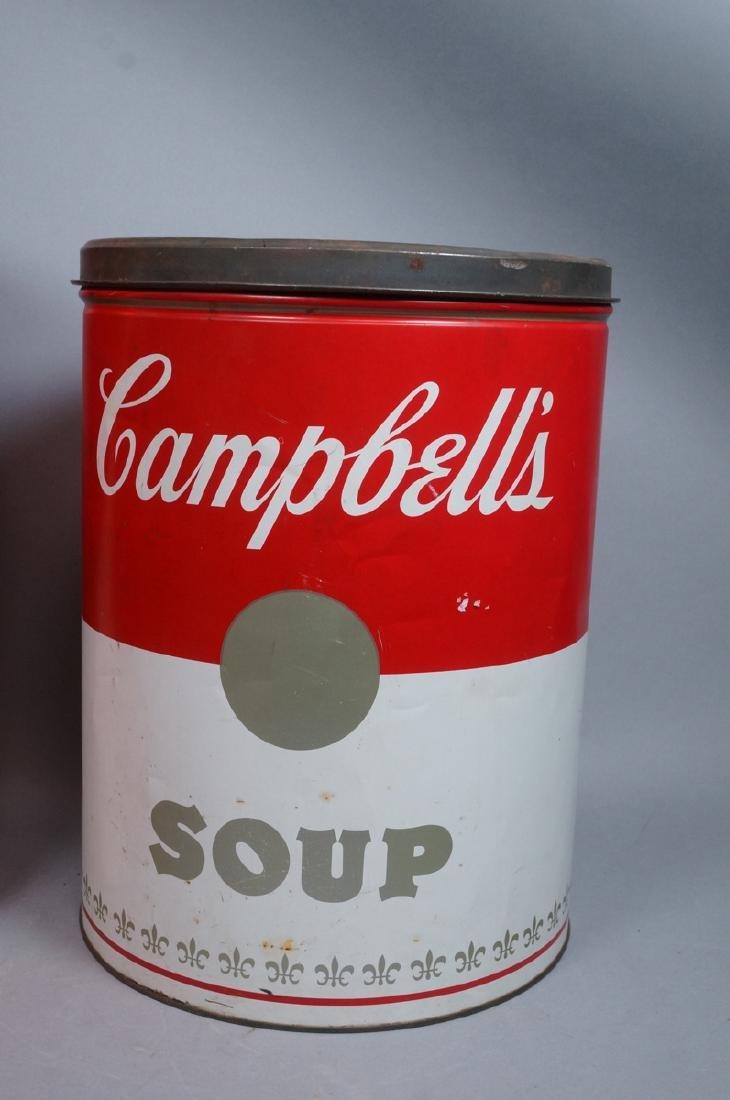 2 70s Modern Metal Advertising Tins. Warhol Style - 3