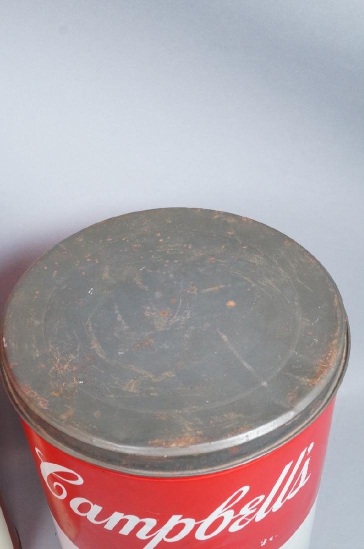 2 70s Modern Metal Advertising Tins. Warhol Style - 4