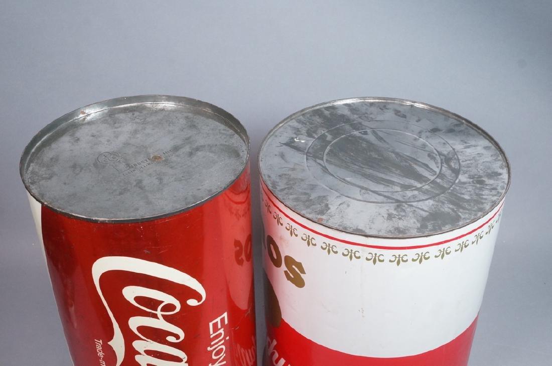 2 70s Modern Metal Advertising Tins. Warhol Style - 8