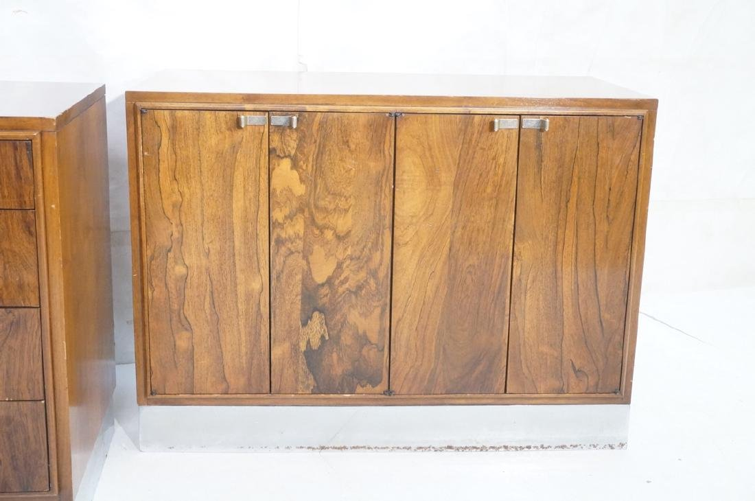 2pc Modern Rosewood Cabinets Dressers. 4 drawer b - 2
