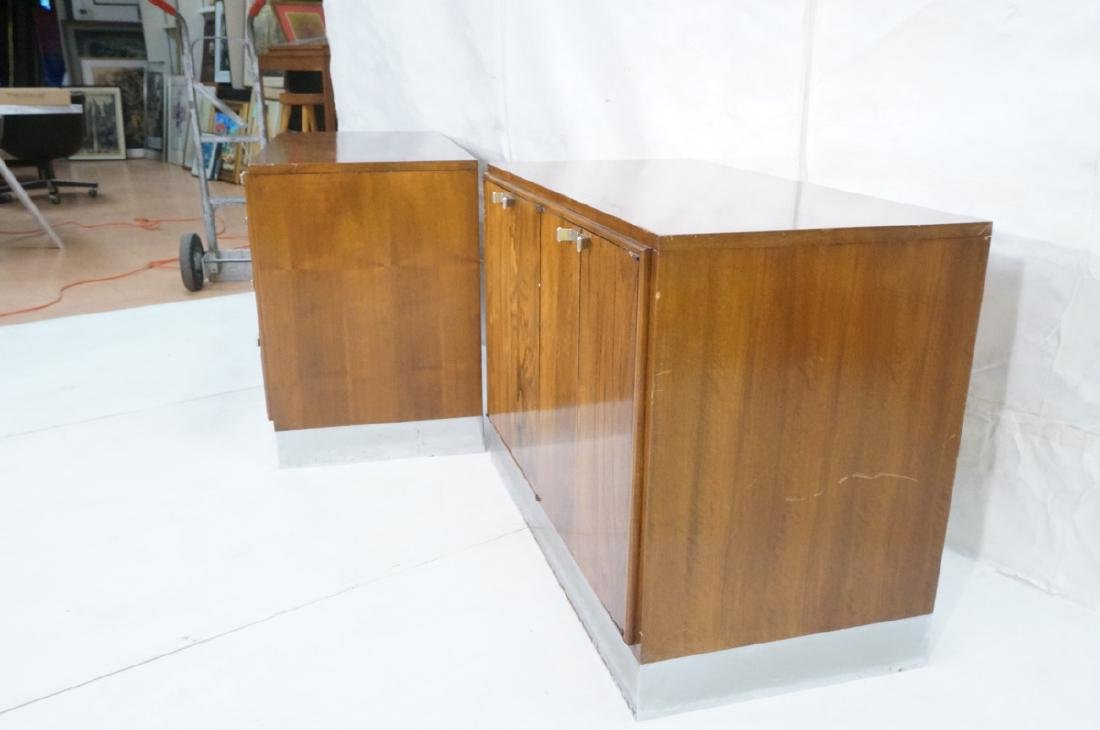 2pc Modern Rosewood Cabinets Dressers. 4 drawer b - 3