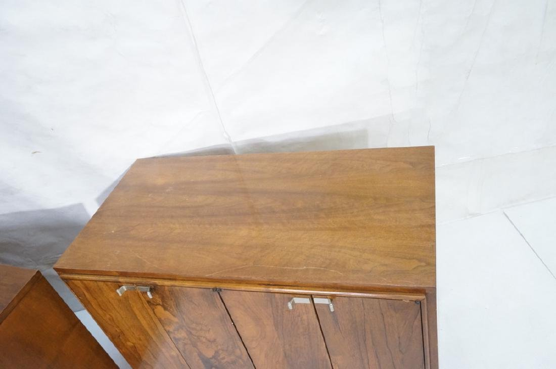 2pc Modern Rosewood Cabinets Dressers. 4 drawer b - 4