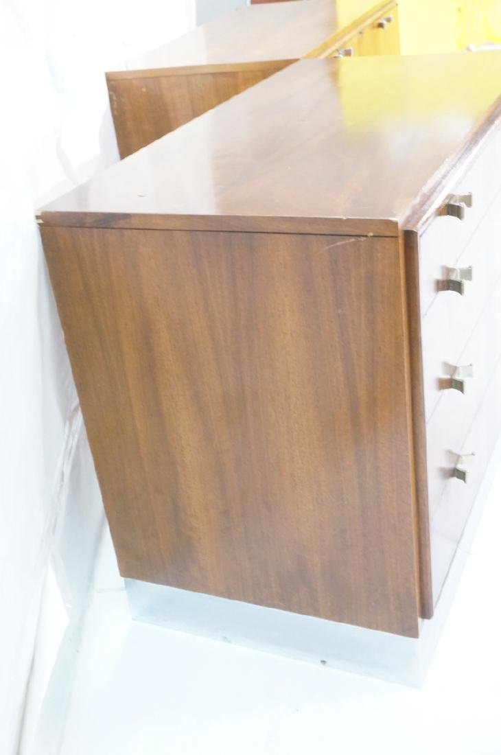 2pc Modern Rosewood Cabinets Dressers. 4 drawer b - 6