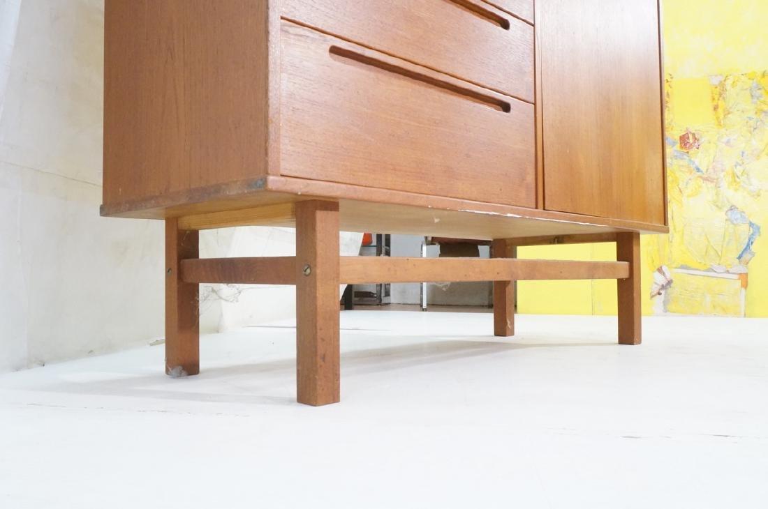 Danish Modern Teak Tall Chest Dresser. One door c - 10