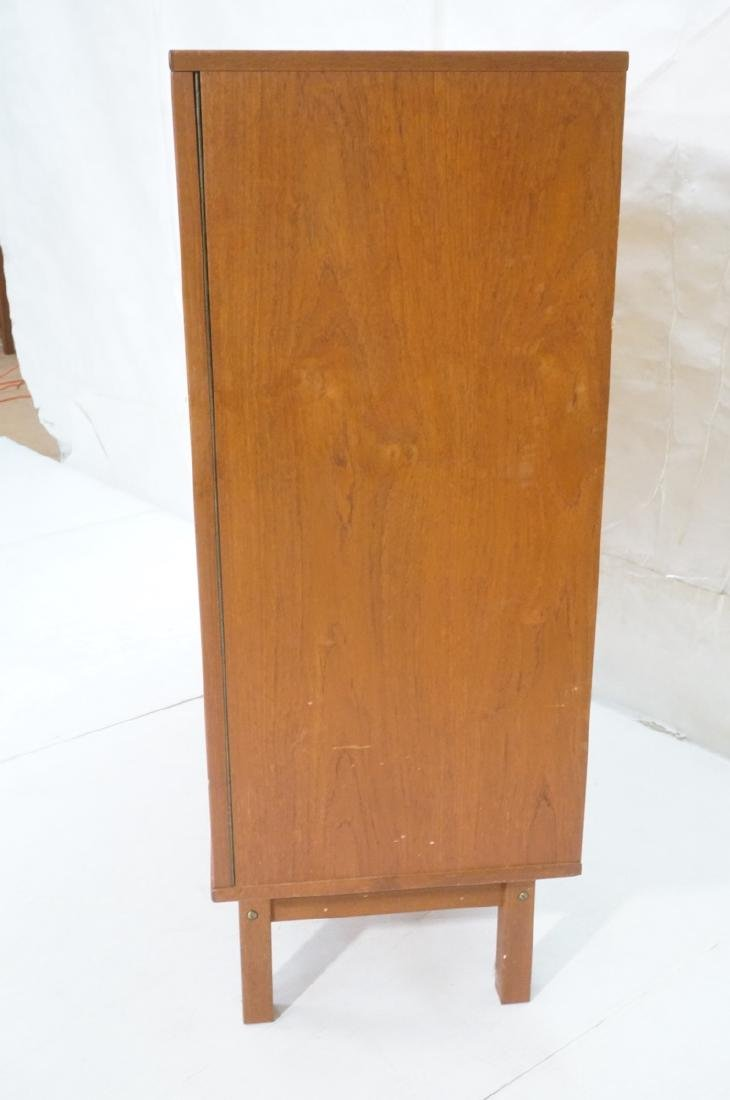 Danish Modern Teak Tall Chest Dresser. One door c - 3
