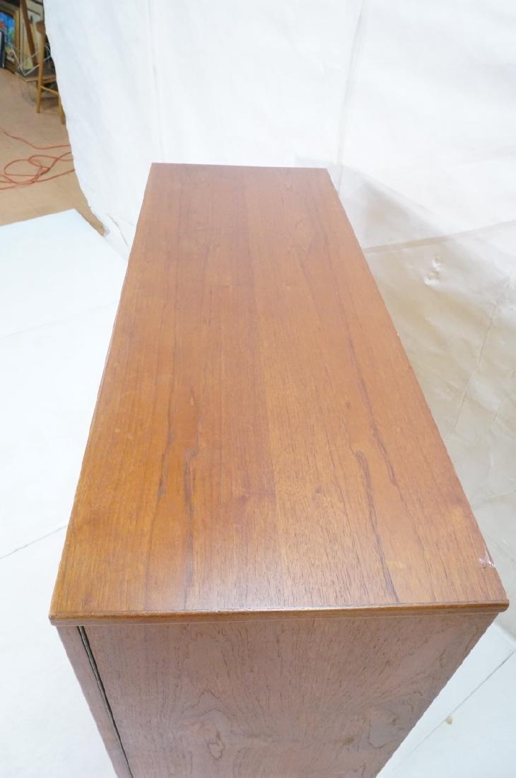 Danish Modern Teak Tall Chest Dresser. One door c - 4