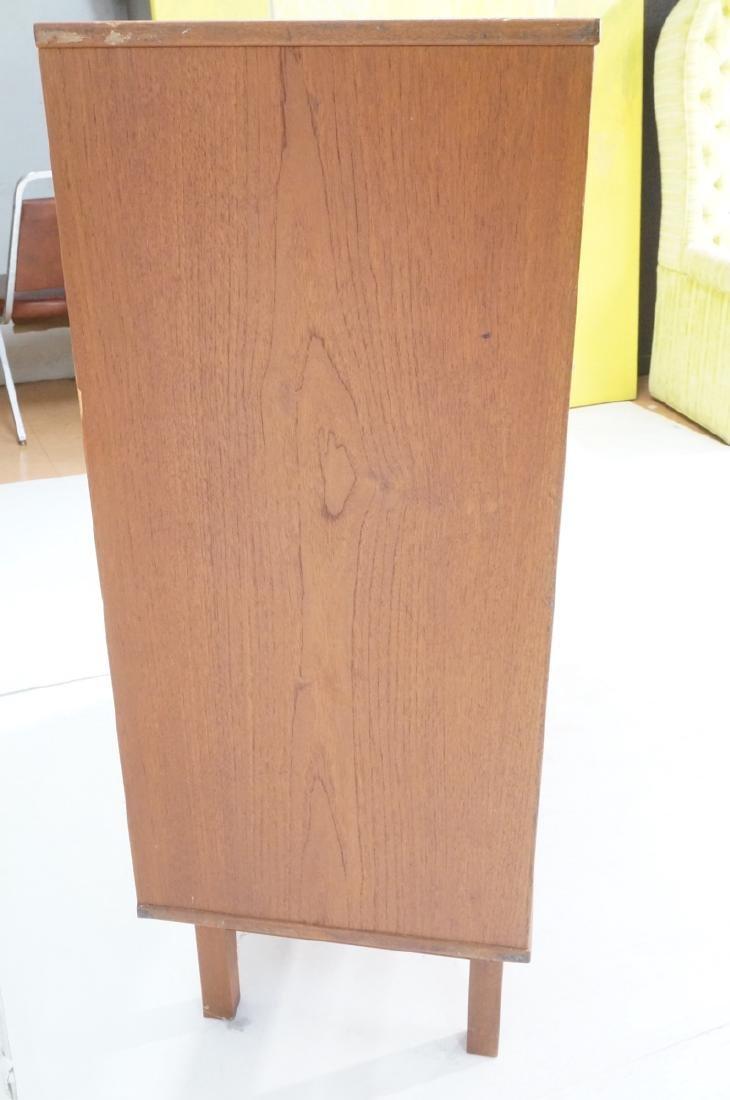 Danish Modern Teak Tall Chest Dresser. One door c - 5