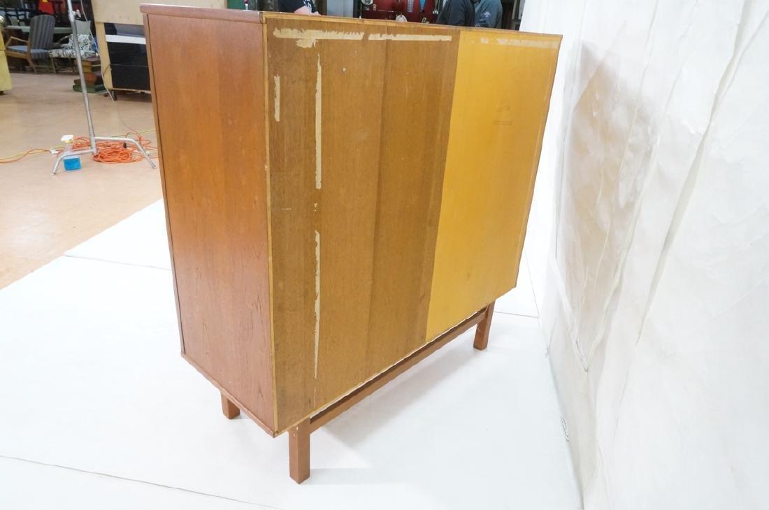 Danish Modern Teak Tall Chest Dresser. One door c - 7
