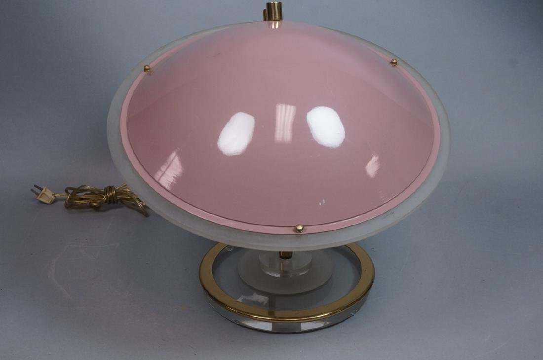 Modernist Brass and Lucite Table Lamp. Lilac plas - 2