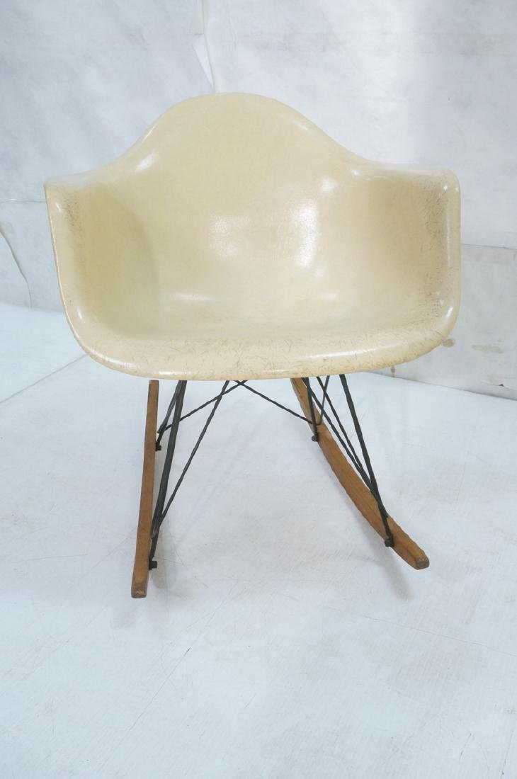 CHARLES EAMES Fiberglass Rocker Rocking Chair. Da - 2