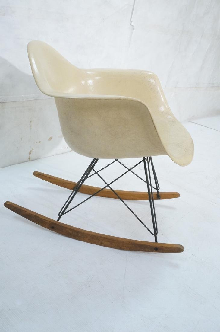CHARLES EAMES Fiberglass Rocker Rocking Chair. Da - 3