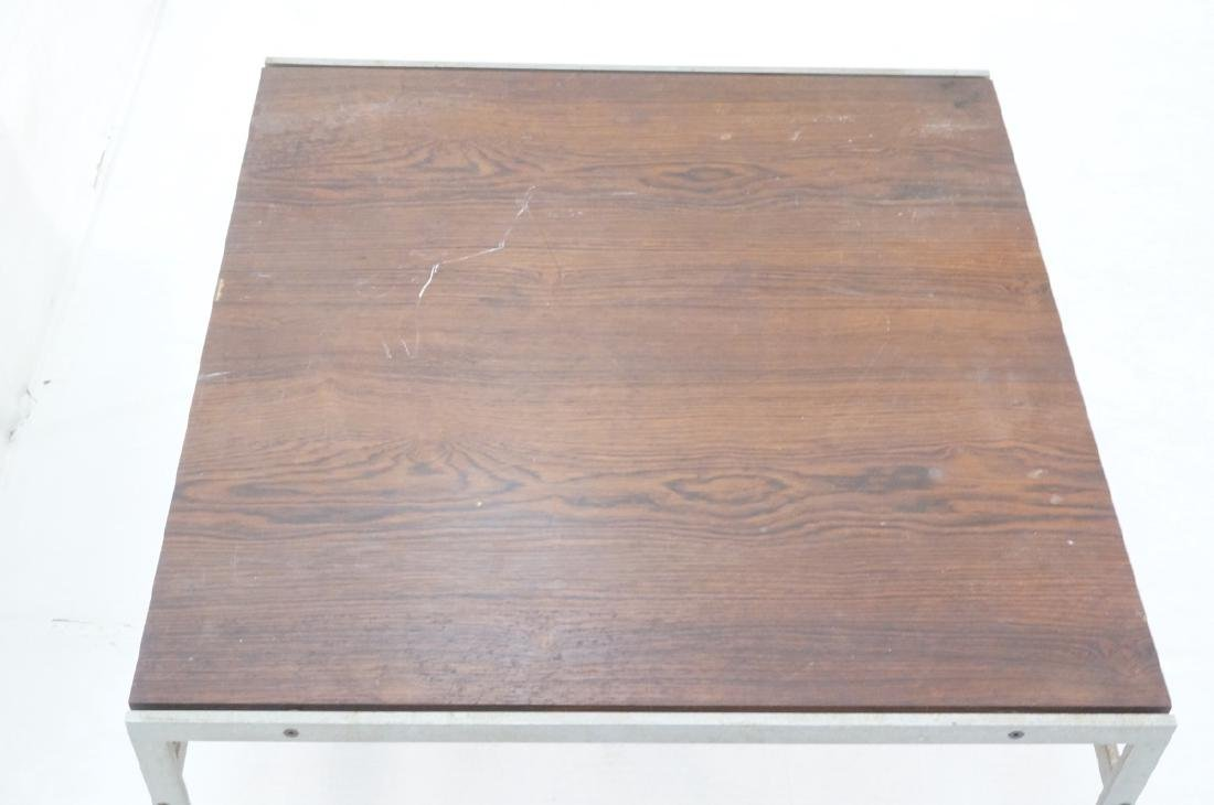 "Modern Rosewood Steel Square Cocktail Table. 1"" t - 4"