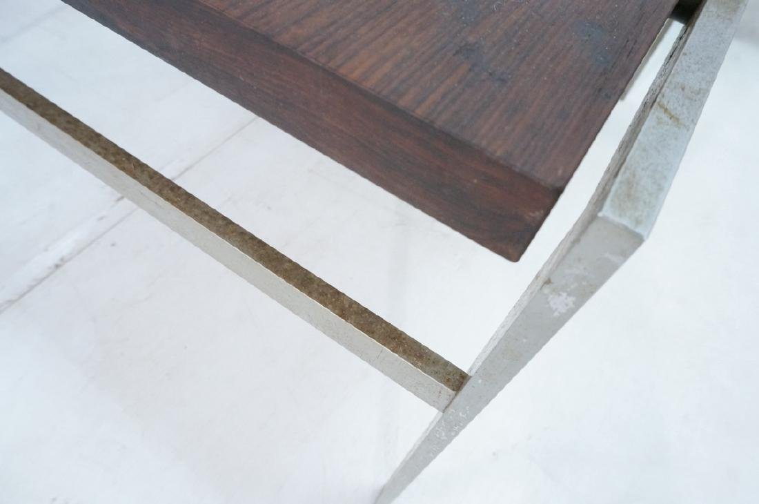 "Modern Rosewood Steel Square Cocktail Table. 1"" t - 7"