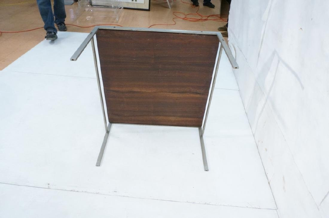 "Modern Rosewood Steel Square Cocktail Table. 1"" t - 8"