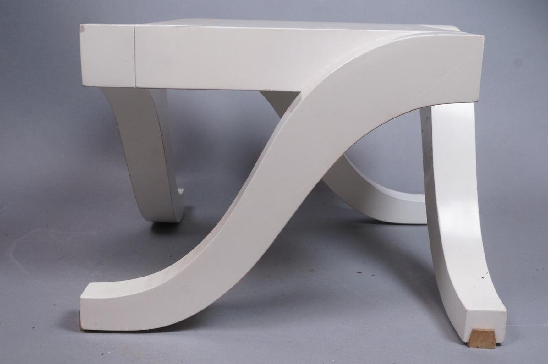 "Small BAKER White Low Side Table. Stylish ""S"" for - 3"