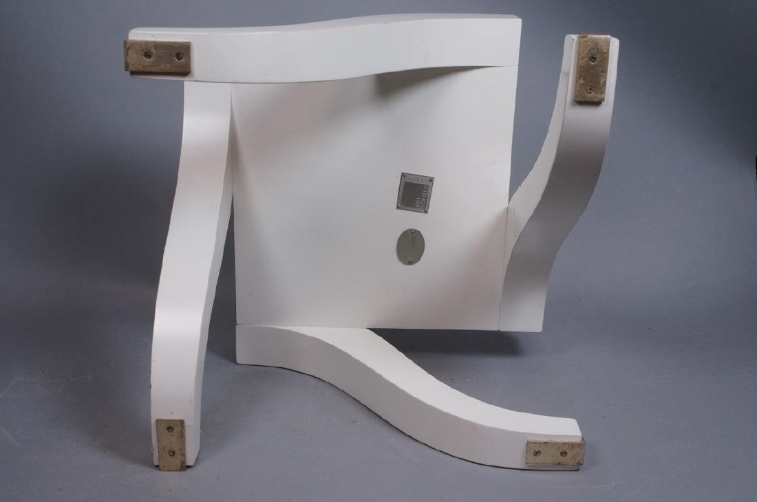"Small BAKER White Low Side Table. Stylish ""S"" for - 9"