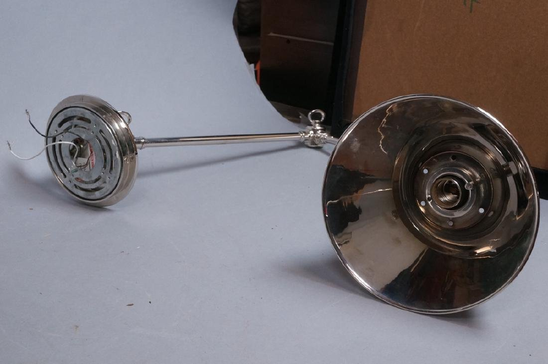 Pr Chrome Plated Wall Mounted Lamp Lights. Cone F - 8