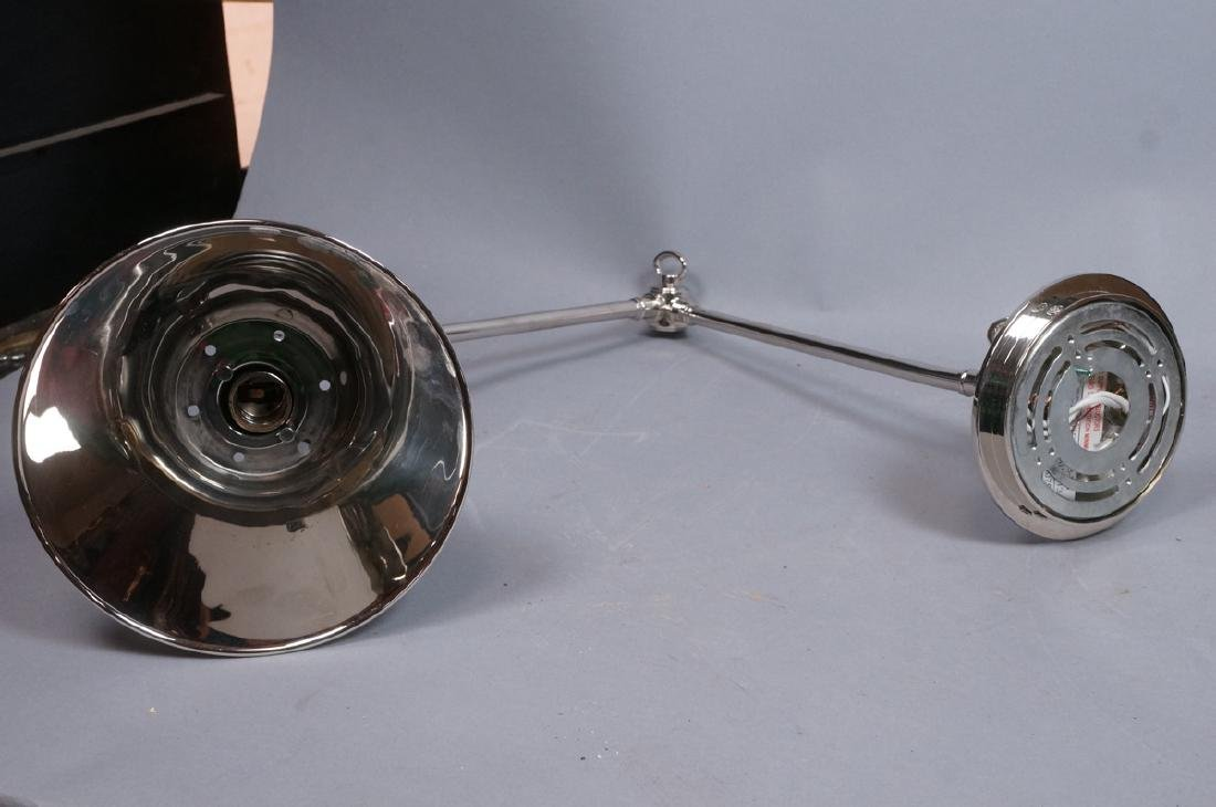 Pr Chrome Plated Wall Mounted Lamp Lights. Cone F - 9